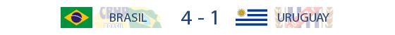Brasil 4-1 Uruguai