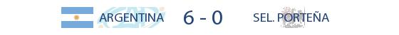Argentina 6-0 Sel Portenya