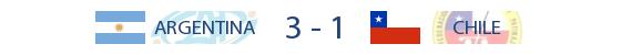 Argentina 3-1 Chile