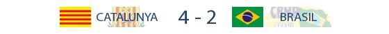 Catalunya 4-2 Brasil