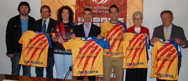 Presentació de la nova samarreta de Catalunya